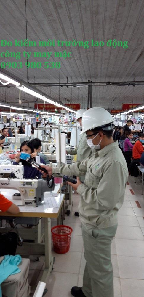 Đo kiểm môi trường lao động công ty may mặc