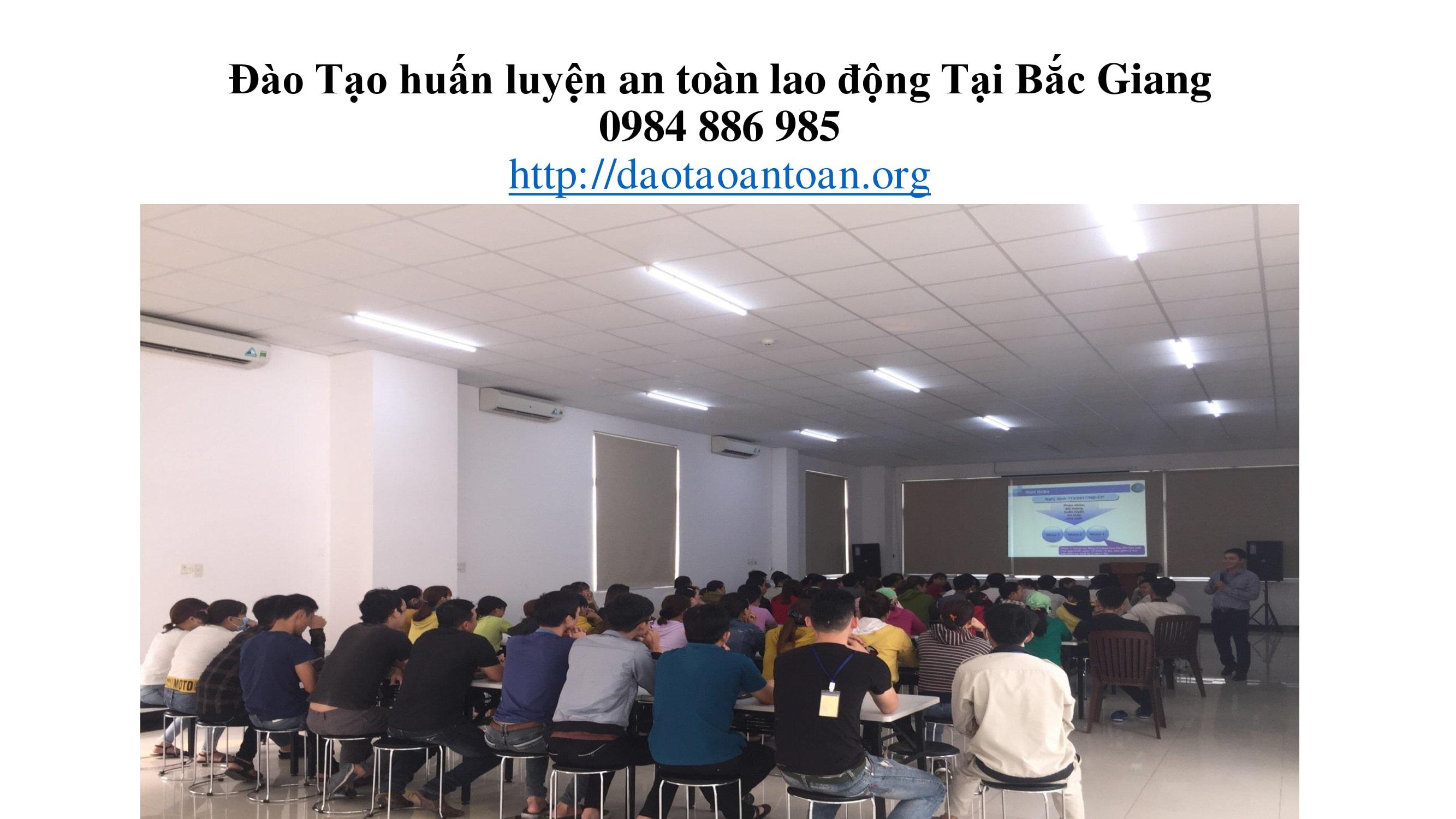 Đào tạo huấn luyện an toàn lao động tại Bắc Giang