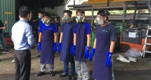 Diễn tập ứng phó sự cố hóa chất tại Công ty Baiksan Bình Dương